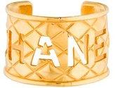 Chanel Matelasse Cutout Logo Cuff