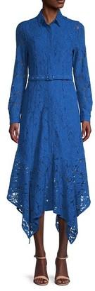 Ganni Floral Lace High-Low Dress