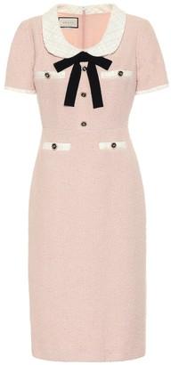 Gucci Cotton-blend tweed midi dress