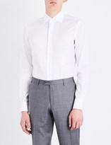Brioni Houndstooth-patterned regular-fit cotton shirt