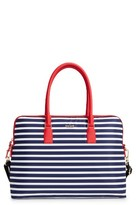 Kate Spade Stripe 15 Inch Nylon Satchel - Blue