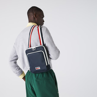 Lacoste Men's Classic Tricolour Shoulder Strap And Badge Crossbody Bag