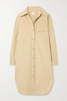 Deveaux Shiloh Oversized Cotton-poplin Shirt Dress - Beige