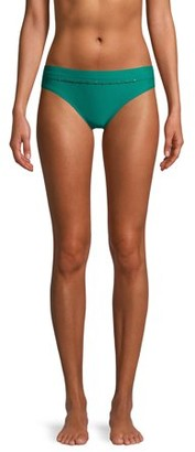 Time and Tru Women's Green Stud Bikini Swimsuit Bottom
