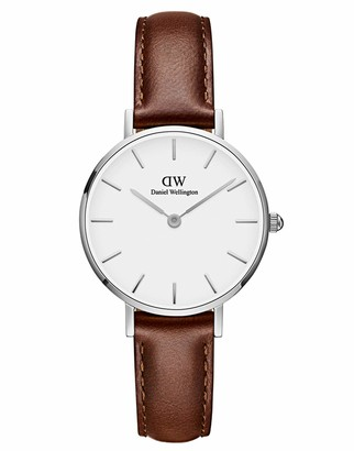 Daniel Wellington Petite St Mawes Silver Watch 32mm Leather for Men and Women