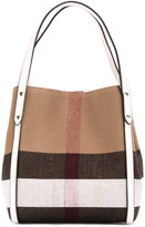 Burberry House Check shoulder bag - kids - Cotton/Jute/Leather - One Size