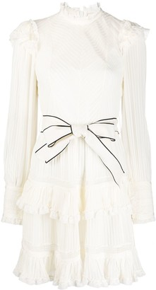 Zimmermann Ruffle-Trimmed Mini Dress