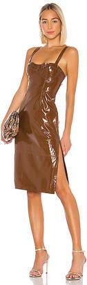 LPA Ophelia Leather Midi Dress