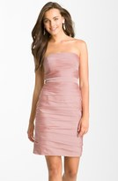 uncategorized  Who made Nicole Scherzingers pink strapless gown that she wore in London?