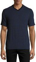 Armani Collezioni Triangle-Box V-Neck T-Shirt, Multicolor/Blue