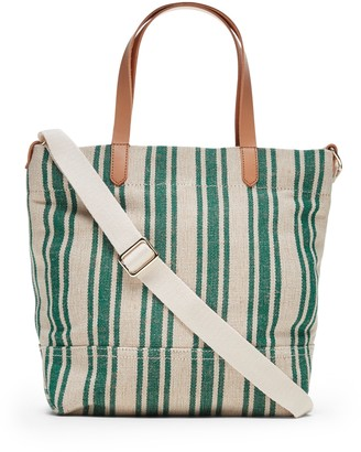 Banana Republic Stripe Small Canvas Tote