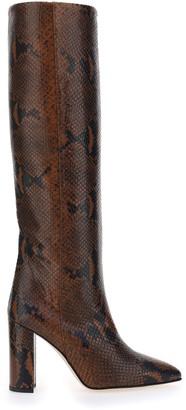 Paris Texas Printed Block Heel Boots