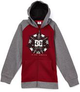 DC Gray & Cabernet 'DC' Zip-Up Hoodie - Toddler & Boys