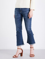 Citizens of Humanity Drew frayed-hem flared high-rise jeans