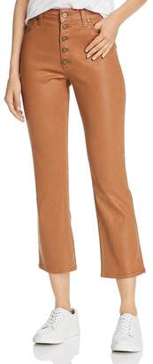 Joe's Jeans Callie Coated Crop Boot Jeans in Maple