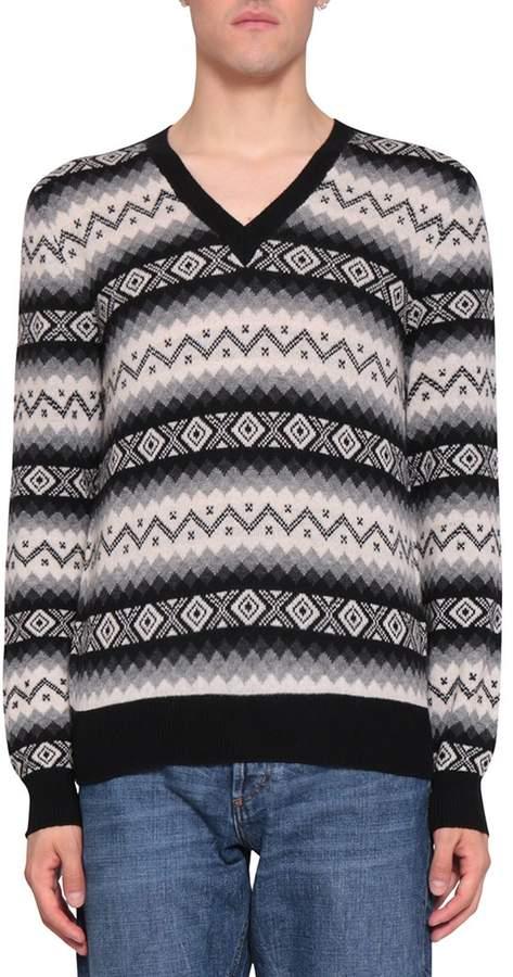Alexander McQueen Cashmere Jacquard Sweater