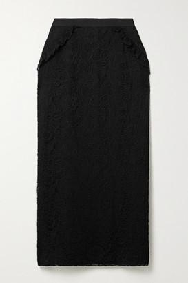 Mila Louise Laura Garcia Ruffled Lace Midi Skirt - Black