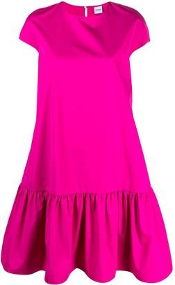 Aspesi Ruffled Hem Cotton Midi Dress