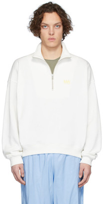 Martin Asbjorn White Andrew Zip-Up Sweater