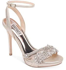 Badgley Mischka Women's Adriana Embellished High-Heel Sandals