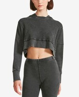 Thumbnail for your product : Madden Girl Juniors' Mineral-Wash Thermal Cropped Hoodie