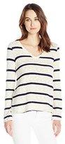 Splendid Women's Tucson Striped Loose Knit Easy Pullover