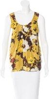 Kate Spade Silk Floral Print Top