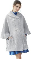 Sweet Mommy Maternity and Babywearing Hooded Tweed Poncho Coat PKF