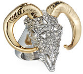 Alexis Bittar Crystal-Encrusted Horned Ram Ring