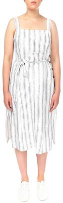 Jump Stripe Button Detail Dress