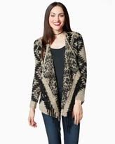 Charming charlie Snow Escape Fringe Cardigan