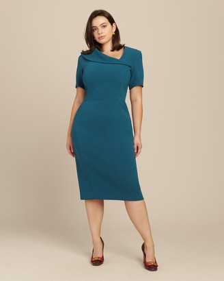Zac Posen Bonded Crepe Cocktail Dress