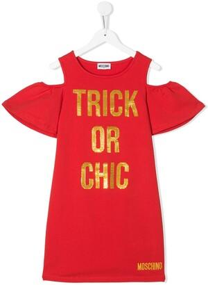 MOSCHINO BAMBINO Trick Or Chic Sweater Dress