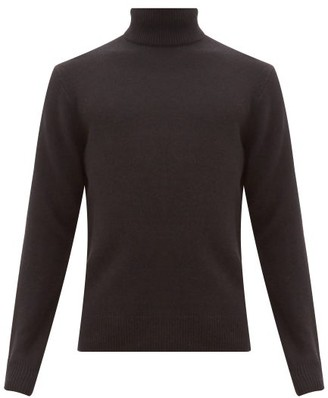 Rag & Bone Haldon Ribbed-trim Cashmere Roll-neck Sweater - Black