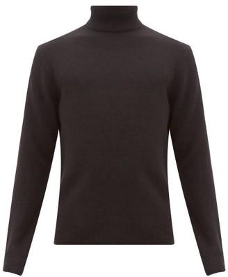 Rag & Bone Haldon Ribbed Trim Cashmere Roll Neck Sweater - Mens - Black