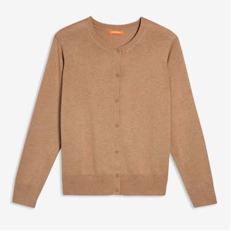 Joe Fresh Women+ Mixed Knit Cardi, Light Brown Mix (Size 1X)