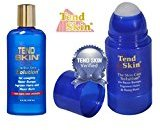 Tend Skin Razor Burn and Ingrown Hair Kit 4 oz Liquid + Roll-On 2.5oz)