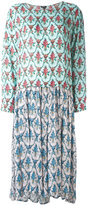 Jil Sander Navy long flowered dress