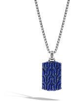 John Hardy Men's Batu Lapis Lazuli Dog Tag Necklace