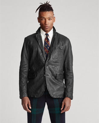 Ralph Lauren Washed Leather Sport Coat