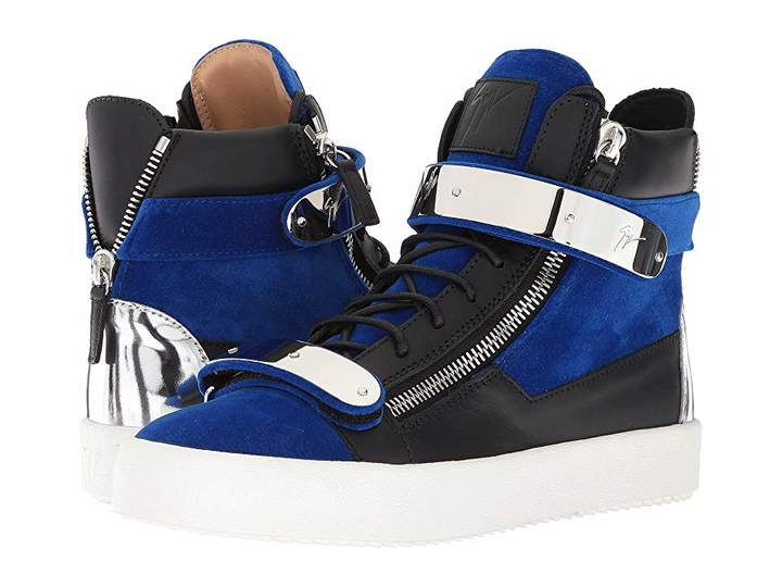 Giuseppe Zanotti May London Flocked Hardware High Top Sneaker
