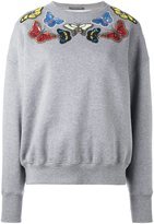 Alexander McQueen embellished butterfly sweatshirt - women - Cotton/Polyester/glass - 44