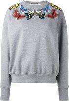 Alexander McQueen embellished butterfly sweatshirt