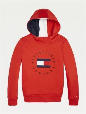 Tommy Hilfiger Logo Embroidery Fleece Hoody