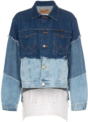 Natasha Zinko Frayed Patchwork Denim Jacket