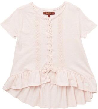Lace-Up Tee Slub Shirt