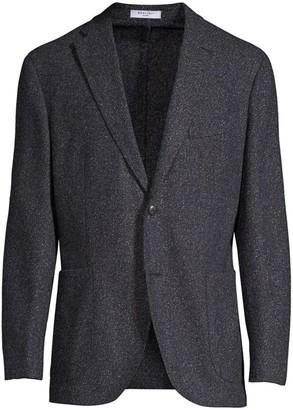 Boglioli Regular Fit Donegal Tweed Blazer