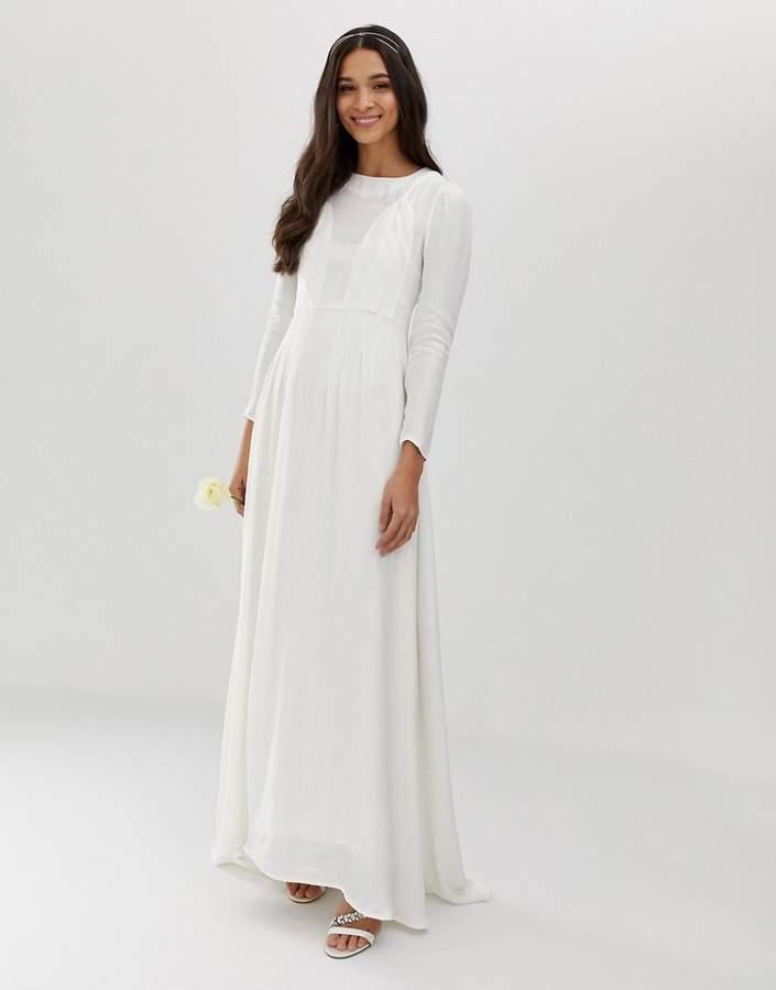 Asos Edition EDITION plaited wedding dress