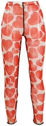 MSGM broken heart print leggings
