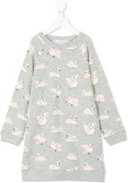 Stella McCartney Leona swan print dress - kids - Cotton - 2 yrs